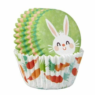Wilton Christmas Cupcake Cases -MINI -EASTER BUNNY -μίνι θήκες ψησίματος 100τμχ