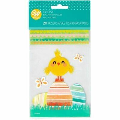 Wilton Easter MINI Treat Bags -CHICK -Τσαντούλες Κοτοπουλάκι για γλυκά & ζαχαρωτά 20 τμχ