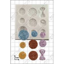 FPC Silicone Mould -ANTIQUE BUTTONS -Καλούπι Κουμπιά Αντίκες
