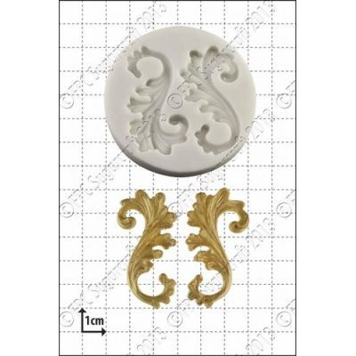 FPC Silicone Mould -CURLICUES -Καλούπι Ανθηρογραφίες