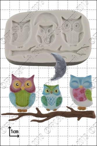"FPC  'Owl Family' Silicone Mould-Καλούπι ""Οικογένεια Κουκουβάγια"""