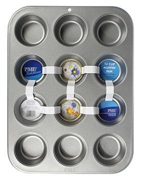 PME -Non-Stick Standard Cupcake 12 Hole Baking Tin -Ταψί για Cupcakes 12μερ.
