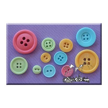 Alphabet Moulds - Plain Buttons - Καλούπι Κουμπιά - 4χιλ