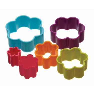 Colourworks - Set of 5 Flower Shaped Cookie Cutters - Πλαστικά Κουπάτ σχήμα Λουλούδι - σετ 5 τεμαχίων