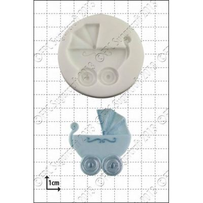 FPC Silicone Mould -BABY CARRIAGE -Καλούπι Καροτσάκι Μωρού