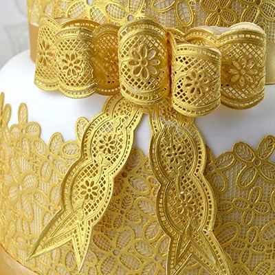 SALE!!! Claire Bowman - Cake Lace Mat Vintage Bows - Πατάκι Δαντέλας Πεπαλαιωμένων Φιόγκων - 26x38εκ