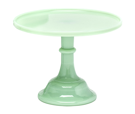 Mosser - Glazed Milk Glass Stand Jadeite Green 30cm - Γυάλινη Βάση - Πράσινο Νεφρίτη - 30εκ