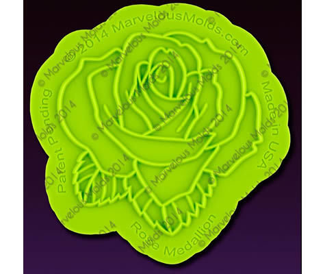 Marvelous Moulds Silicone Onlay -Rose Medallion -Πατάκι σιλικόνης