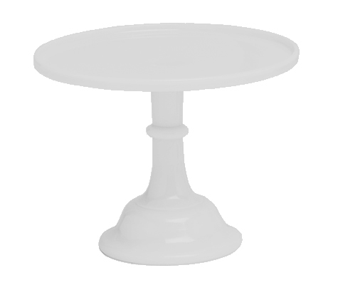 Mosser Glazed Milk Glass Stand -White 10 Inch 25εκ -Γυάλινη βάση -Λευκό