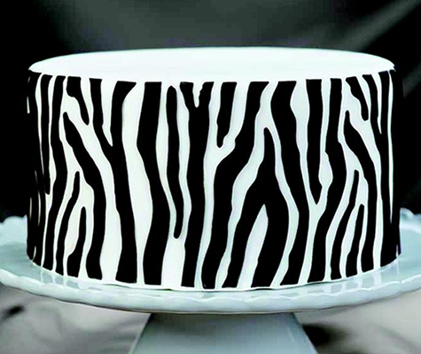 SALE!!! Marvelous Moulds Silicone ONLAY -ZEBRA -Καλούπι Πατάκι Σιλικόνης -Ζέβρα