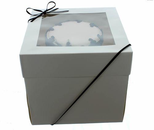 Extra Deep Cake Box With Window 35εκ- Βαθύ Κουτί με Διάφανο Καπάκι με Ύψος 30εκ