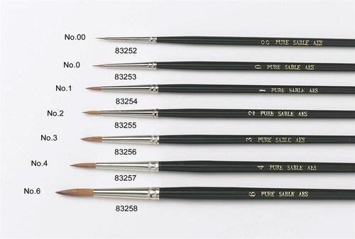 By Culpitt -Sable Artist Brush No.0 -Πινέλο με Mαλακές Tρίχες