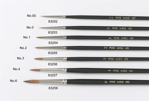 By Culpitt -Sable Artist Brush no.4 -Πινέλο με Mαλακές Tρίχες