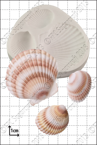 FPC  -'Large Shells' Silicone Mould-Καλούπι