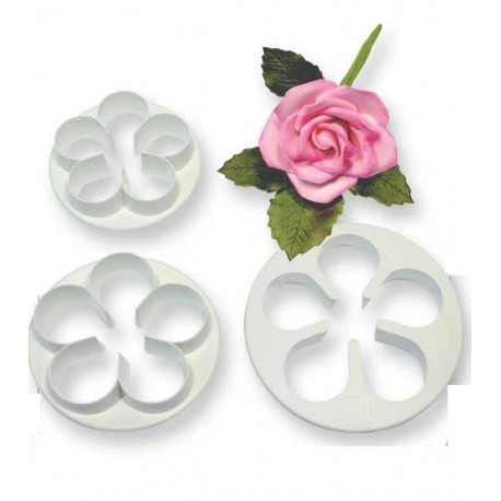 PME 5 Petal Cutter -Large Set of 3 -55mm, 65mm, 75mm -Σετ 3 κουπάντ - 5 πέταλα - 57χιλ,65χιλ,75χιλ