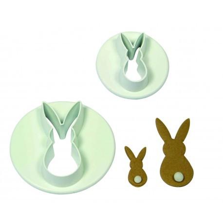 PME - Cutters Rabbits 2pcs - Κουπάτ Κουνέλια - 2τεμ - 3.5 + 2εκ