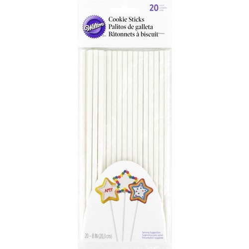 Wilton Paper Cookie Sticks 20cm -Χάρτινα στικάκια για μπισκότα 20εκ (20 τμχ)