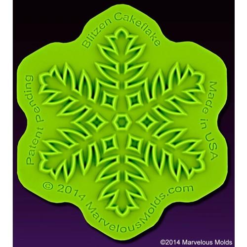 Marvelous Moulds Silicone Onlay -Blitzen Cakeflake -Πατάκι σιλικόνης