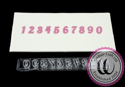 "Clikstix - ""Flourish"" Plunger Cutters Numbers 17mm - Κουπάτ με Εκβολέα Αριθμοί ""Flourish"" - 17χιλ"