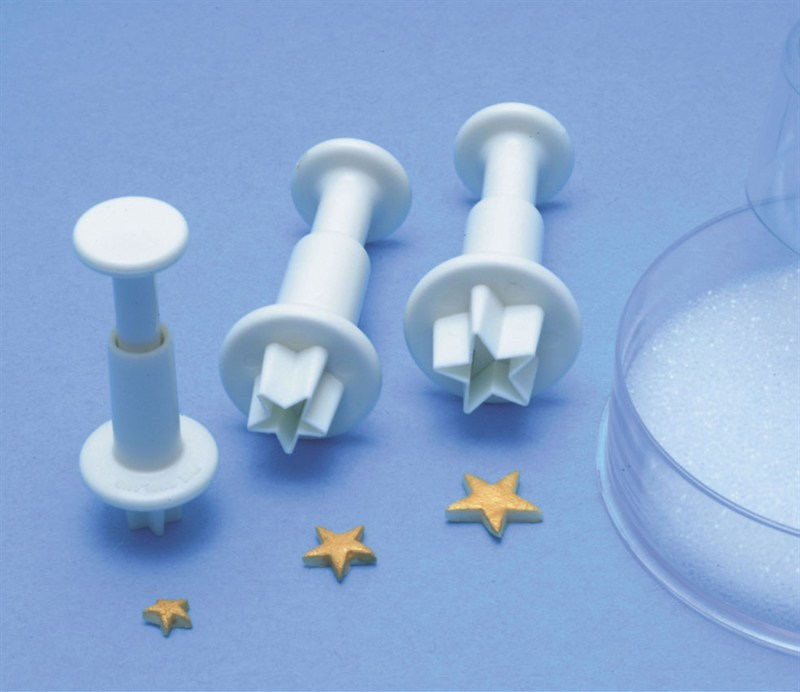 PME Geometric Plunger Cutters -Set of 3 -MINI STARS -Σετ 3τεμ Κουπ πατ με Εκβολέα Αστεράκια