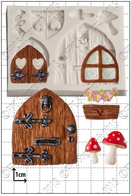 FPC Silicone Mould -FAIRY DOOR & WINDOWS -Καλούπι Πόρτα & Παράθυρο Νεράϊδας