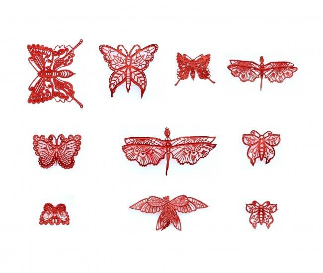 Claire Bowman - 3D & 2D Cake Lace Mat Beautiful Butterflies -Τρισδιάστατο & Δισδιάστατο Πατάκι Δαντέλας Όμορφες Πεταλούδες