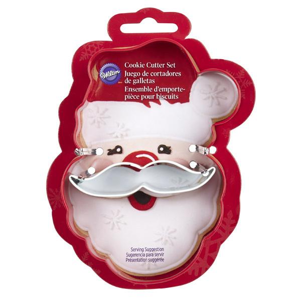 Wilton Christmas Metal Grippy Cutter -SANTA FACE & MUSTACHE -Κουπάτ πρόσωπο Αγ. Βασίλη με μουστάκι