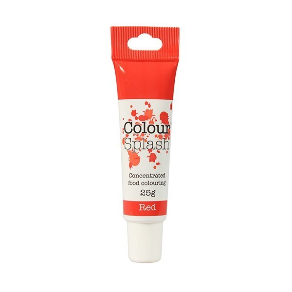 Colour Splash GEL -RED -Χρώμα Πάστας -Κόκκινο 25γρ