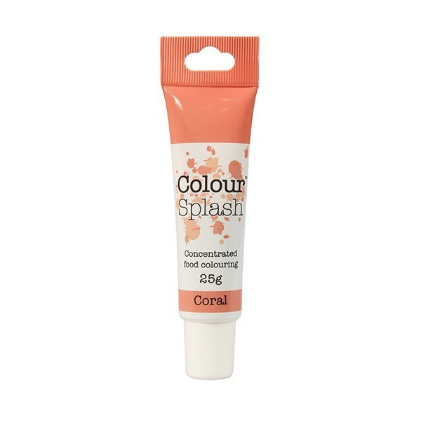 Colour Splash GEL -CORAL -Χρώμα Πάστας -Κοραλί 25γρ