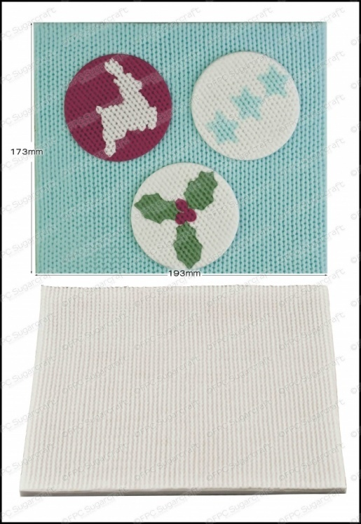 By FPC -Silicone Texture Mat -KNITTING -Καλούπι με Υφή Πλέξης