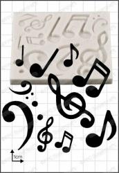 FPC Silicone Mould -MUSICAL NOTES -Καλούπι Μουσικές Νότες