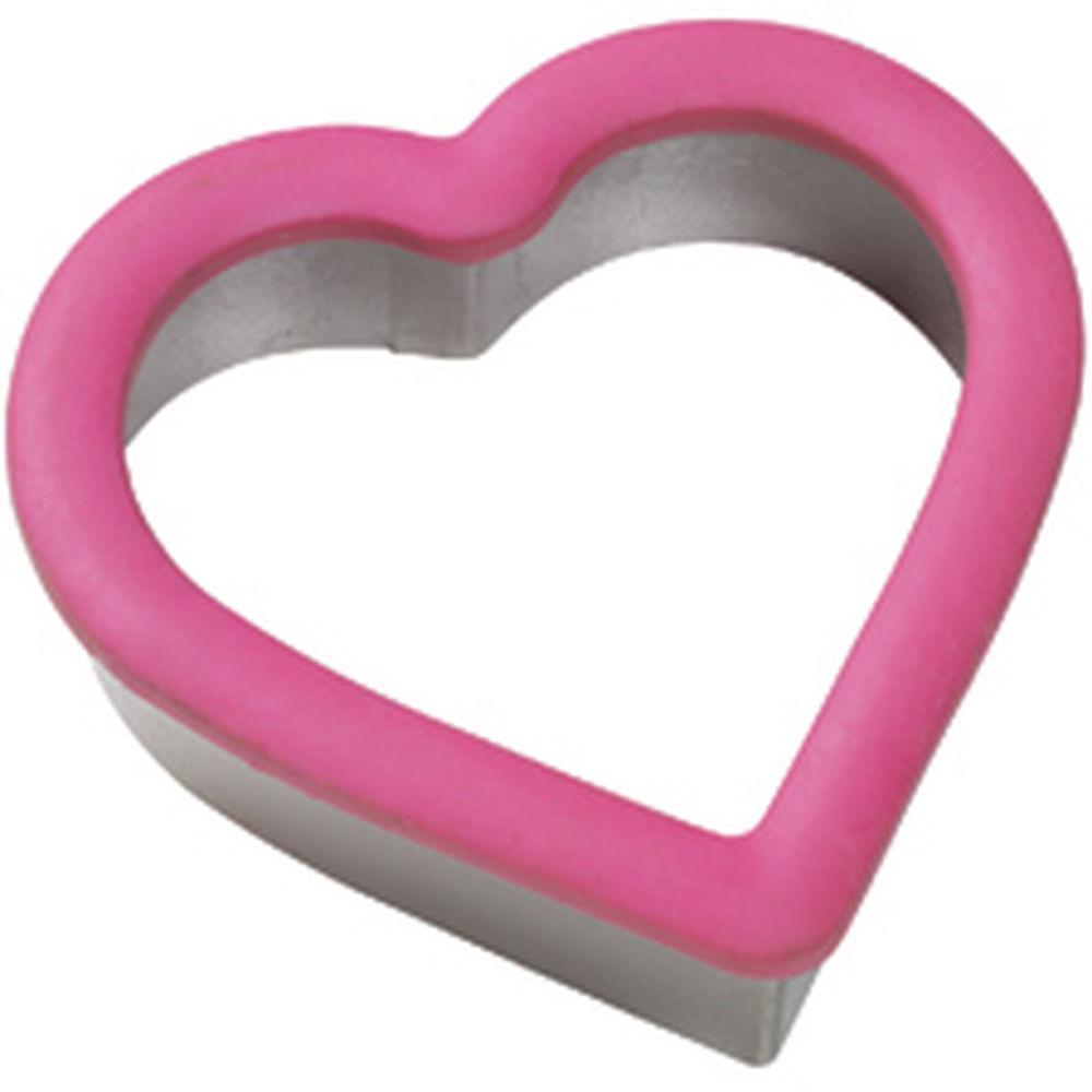 Wilton Metal Grippy Cutter -HEART -Κουπάντ Καρδιά με λαβή σιλικόνης 10εκ