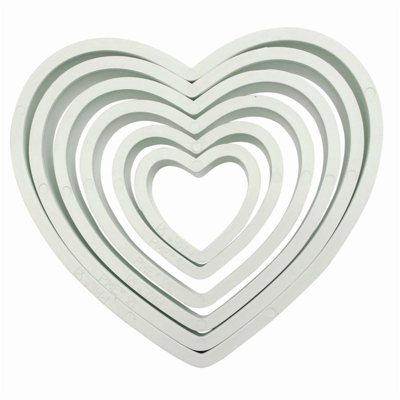 PME BASICS Set of 6 Heart Cutters