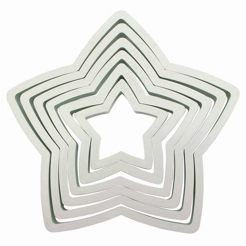 PME Geometric Basics -Set of 6 -STARS -Βασική Σειρά Κουπάτ Αστέρια 6 τεμ