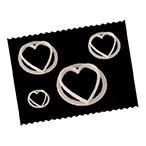 FMM - Set of 4 Hearts Cutters - Κουπάτ Καρδιές - 4τεμ/πακέτο