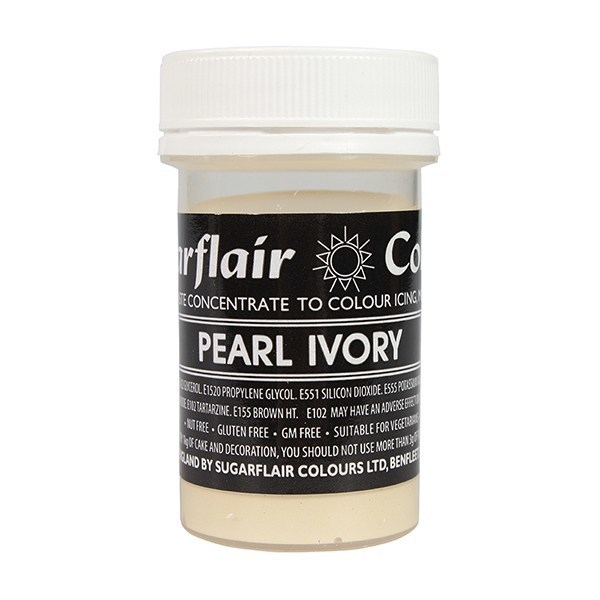 Sugarflair Paste Colours -PEARL IVORY -Χρώμα Πάστα -Ιβουάρ Περλέ
