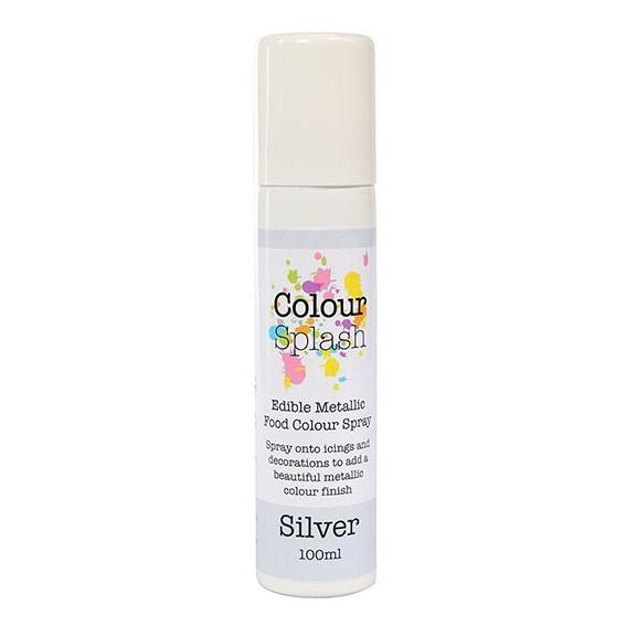 Colour Splash - Edible Food Colour Spray Metallic Silver - Βρώσιμο Σπρέϊ με Χρώμα - Μεταλλικό Ασημί - 100ml