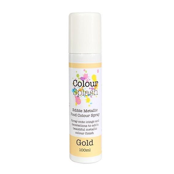 Colour Splash - Edible Food Colour Spray Metallic Gold - Βρώσιμο Σπρέϊ με Χρώμα - Χρυσό Μεταλλικό - 100ml