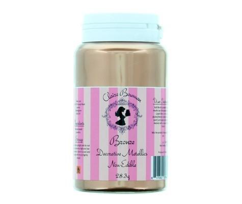 Claire Bowman - Lustre Dust - Bronze Decorative Metallic Powder NON-EDIBLE 28.3g - Μπρονζέ Σκόνη Διακόσμησης ΜΗ ΒΡΩΣΙΜΗ ΜΗ ΤΟΞΙΚΗ - 28.3γρ