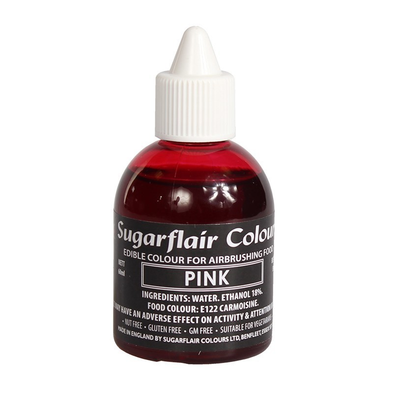 Sugarflair Airbrush Colour -MATT PINK -Ροζ -Χρώμα Αερογράφου 60ml ματ ροζ