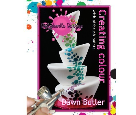 SALE!!! Dinkydoodle Designs - Creating Colour With Airbrush Paints Book by Dawn Butler - Βιβλίο - Δημιουργία Χρωμάτων με Βαφή Αερογράφου
