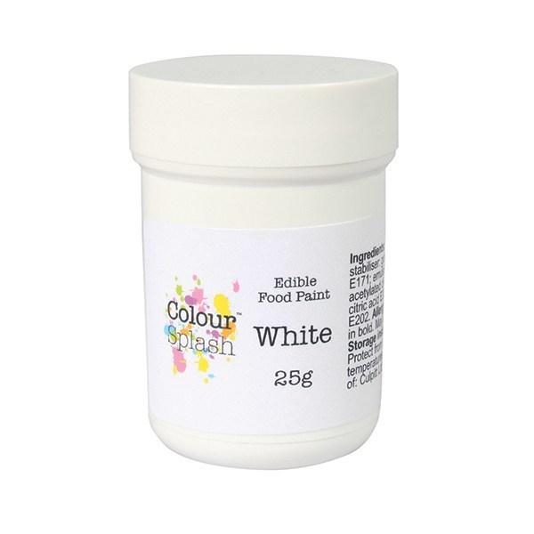Colour Splash Edible Paint Matt White -Βρώσιμο Χρώμα Ζωγραφικής -Λευκό Ματ - 25γρ