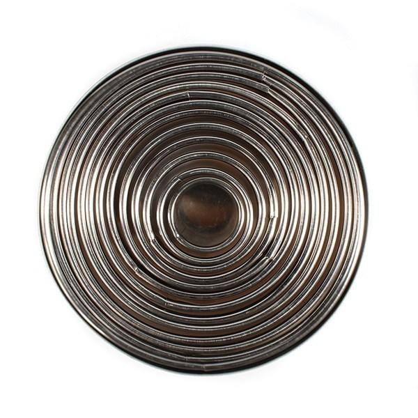 Decopac Round Cutter Set of 12 - Μεταλλικά Στρογγυλά Κουπάτ - 12τεμ/πακέτο -2.5 έως 11,5εκ