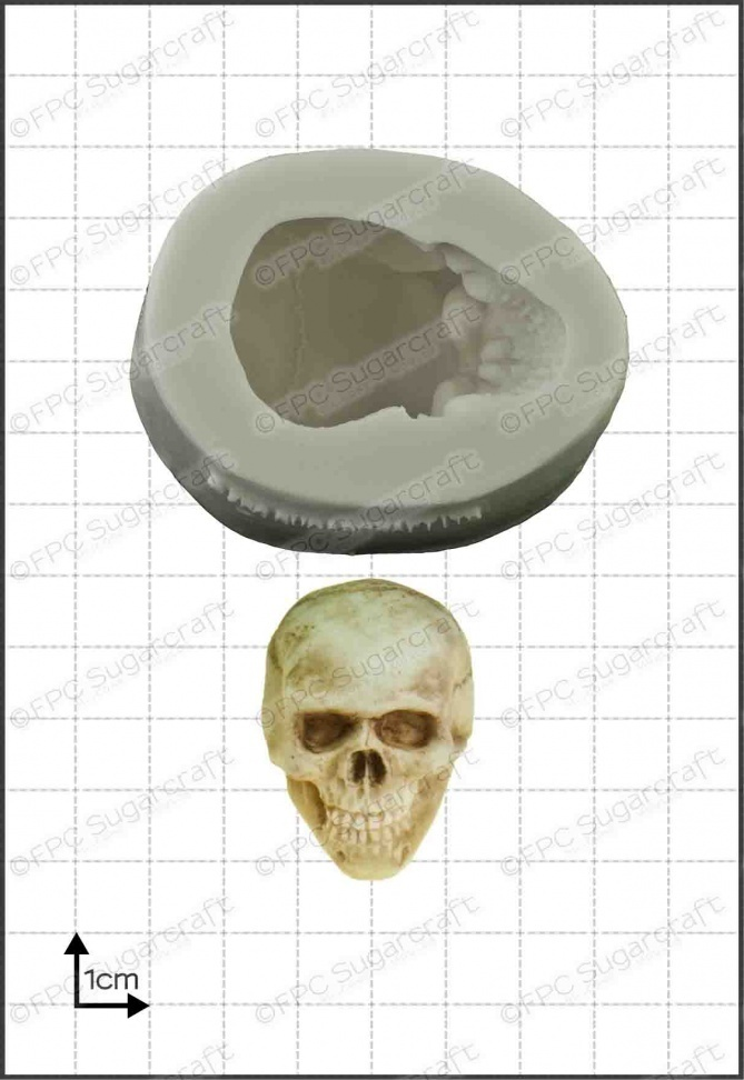 FPC Silicone Mould -3D SKULL  -Καλούπι Τρισδιάστατη Νεκροκεφαλή