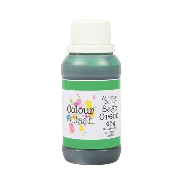 SALE!!! Colour Splash Airbrush Colour -SAGE GREEN -Χρώμα Αερογράφου Πράσινο 45γρ  ΑΝΑΛΩΣΗ ΚΑΤΑ ΠΡΟΤΙΜΗΣΗ 06/2021