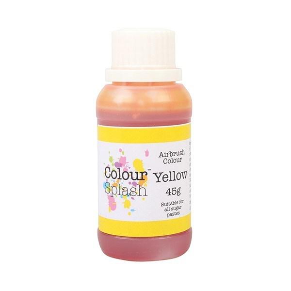 SALE!!! Colour Splash Airbrush Colour -YELLOW -Χρώμα Αερογράφου Κίτρινο 45γρ ΑΝΑΛΩΣΗ ΚΑΤΑ ΠΡΟΤΙΜΗΣΗ 02/2021