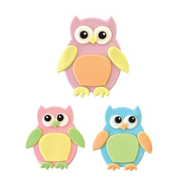 FMM - Mummy & Baby Owl Cutter Set - Κουπάτ Κουκουβάγια Μαμά & Μωράκι - 2τεμ/πακέτο - 7x5εκ + 5.5x4εκ