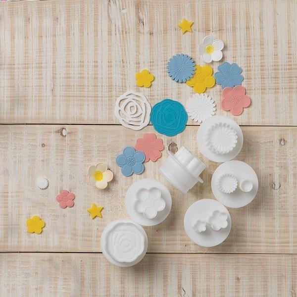 SALE!!! Cake Star - Push Easy Cutters Flowers 6 Piece - Κουπάτ Λουλούδια - σετ 6 τεμαχίων