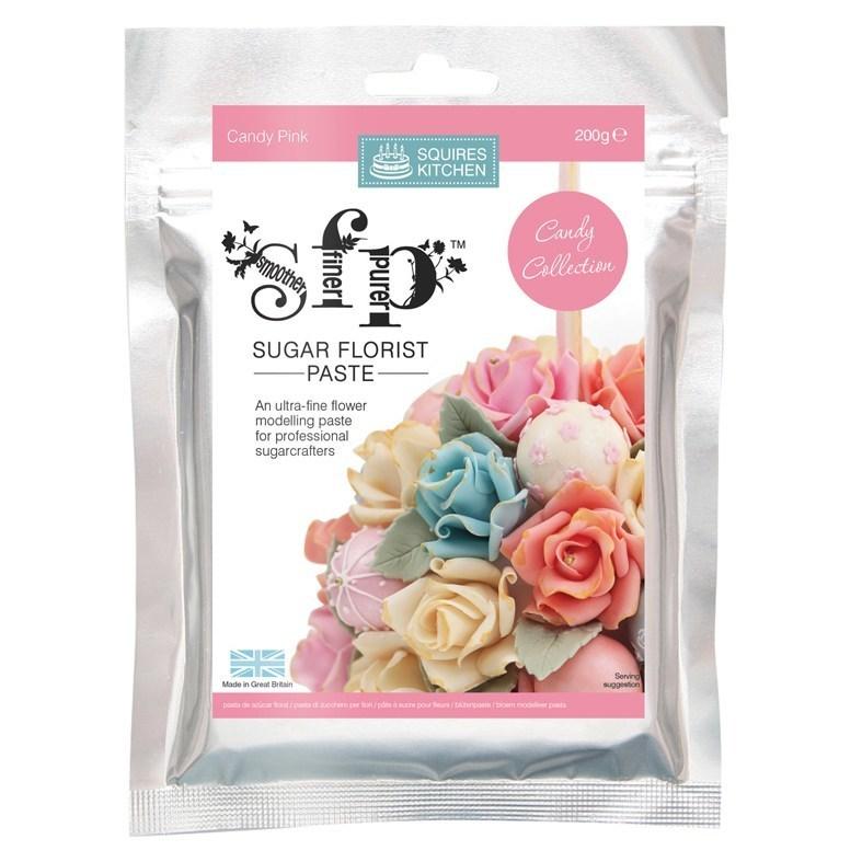 Squires Kitchen -Flower Paste CANDY PINK -Πάστα Λουλουδιών 200γρ -Ροζ Καραμελέ