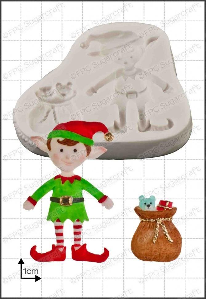 FPC - Xmas Elf Silicone Mould - Καλούπι Χριστουγεννιάτικο Ξωτικό